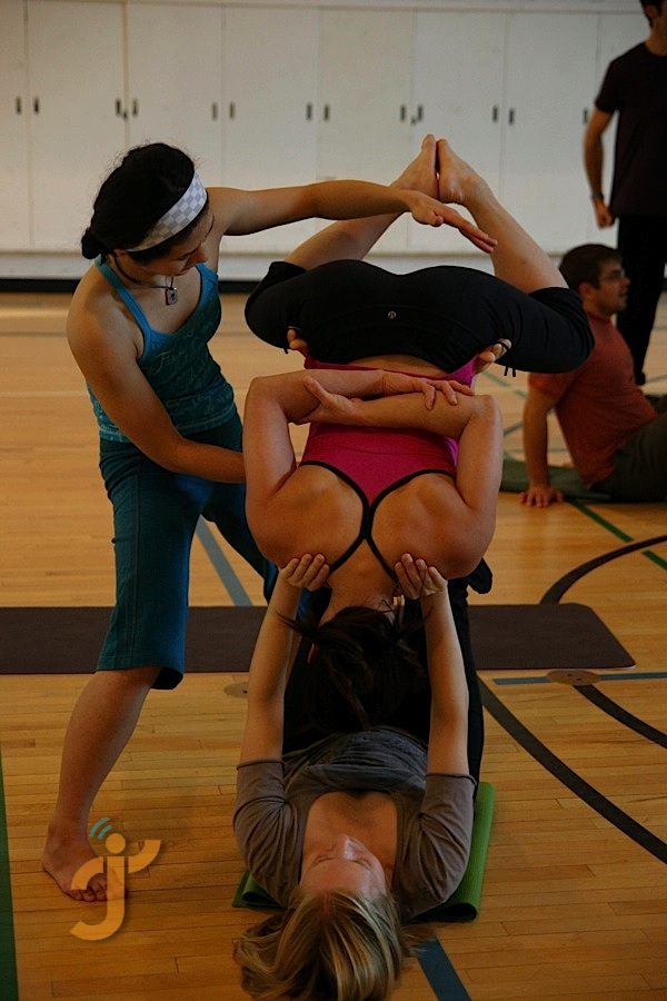 Acro Yoga at the Banff Mountain Film Festival